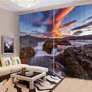 Beautiful Channel Reef 3d Blockout Photo Print Curtain Fabric Curtains Window