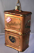 Nordstrom Glass Ornament Travelling Suitcase / Steamer Trunk  New In Box