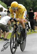 Bradley Wiggins Cycling During The Tour De France 2012 Signed 12x8 Photo