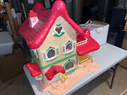 Vintage 1983 Strawberry Shortcake Berry Home Doll House + 48 Accessories - 3250