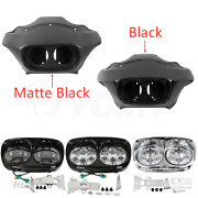 Inner Outer Fairing 5.75and039and039 Dual Led Headlight For Harley Road Glide Fltr 98-13