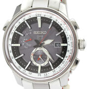 Seiko Astron Sbxa045 Gps Solar Stainless Steel Leather Menand039s Watch [b1209]