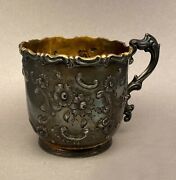 William Gale And Son Repousse American Coin Silver Presentation Cup 1851