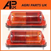 Pair Leyland 245 253 255 270 285 Tractor Rear Fender Lights Lamps With Indicator