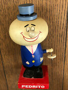 Vintage 1970's Canada Dry Advertising Pedrito Wooden Bobblehead Figure Sign