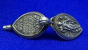 19thc Silver Reliquary Guardian Angel Jewelry With Relics Of Saints