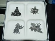 Wallace Silversmiths, Lot Of Four Mini Pewter Ornaments