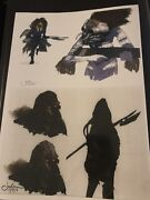 Star Wars Production Used Concept Art Lucasfilm Creature Alien By Jake Lunt
