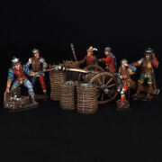 Tin Soldier, Artillery Crew With The Serpentine Gun, 15th Century Middle Ages