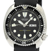 Seiko Diver Stainless Steel Rubber 6306-7001 Self-winding Men's Watch[b1210]