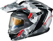 Scorpion Snow Helmet Exo-at950 Cold Weather Helmet Outrigger White/grey