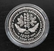 West African States - 1000 Franc Silver Coin 2004 Year Germany Fifa World Cup