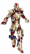 New Hot Toys Quarter Scale Iron Man 3 Mark 42 1/4 Plastic Painted Figure Ems