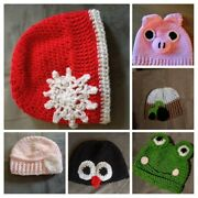 1 Hand Crochetted Beenie Hat. Various Sizes And Designs. Uk Maker/seller