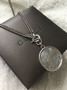 Rare Sold Out Genuine Flora Sterling Silver Pendant Necklace With Box
