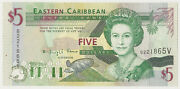2000 Eastern Caribbean Central Bank 5 Dollars Inv 865 Priced Right