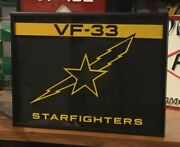 Acrylic Wall Plaque Navy Fighter Squadron Vf-33 Starfighters F-14a Tomcat
