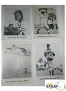 Original 1950and039s Milwaukee Braves Team Issue Bandw Photo Cards 5x7