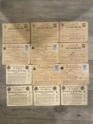 Lot Of 12 Ww2 World War 2 Us Ration Books 1 3 4 With Stamps Sequential Number
