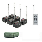 6 Cue Remote Wireless Fireworks Firing System Four Fire Modes Wedding Equipment