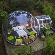 Fan Inflatable Bubble House 3m/4m/5m Dia Outdoor Bubble Tent For Camping Pvc