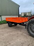 2 Ton Jacksta Farm Trailer Drop Side Tipping With Lights