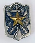 Wwii Japan Navy Pin Insignia Badge Japanese Letters Star Anchor Swords Nice