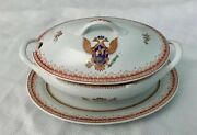 Chinese Export Porcelain With Russian Coat Of Arms, Tureen And Platter