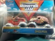 Monster Jam Double Down Showdown Northern Nightmare And Sasquatch 2-pack Free Ship