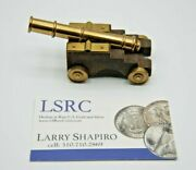 Vintage Marine Cannon Brass Rare 3 Inches Very Cool Little Piece