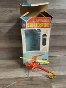 1965 Remco Electronic Stunt Copter With Box Rare