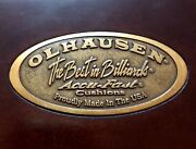 Olhausen Accu-fast Slate, 8ft. Pool Table With Ball Return. Cherry