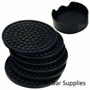 Coasters Set Of 6 In Holder Protect Furniture From Water Mars And Damage Good Grip