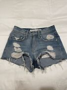 Lovers And Friends High Waisted Jean Shorts - Size 24