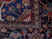 Antique Heriz Rug Estate Lovely Carpet 8and0392and039and039 X 12and0398and039and039 Circa 1960s