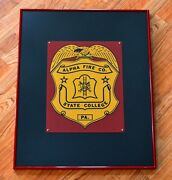 🚒alpha Fire Co, State College, Pa Vintage Apparatus Decal - Framed Presentation