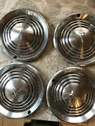 4 Pontiac 14 Classic Hubcaps Set 1973 1974 Vintage Car Oem Hub Caps Lot