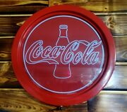 Red Classic Coke Coca Cola Bottle Sign Beer Neon Party Bar Light Lite 18 Round