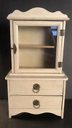 Antique Childrenand039s Toy Cupboard Hutch Cabinet