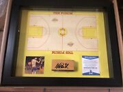 Autographed Magic Johnson Game-used Floor Board W/coa Lakers The Forum 1980s