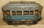 Early 1880's S. Günthermann Tin Lithograph Wind-up Trolley