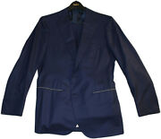 Cesare Attolini Hand Sewn Cuce A Mano Blue Suit 48/ 38 Us- Made In Italy