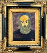 Andre Soose Russian , 1935 Fauvism Judaism Cabala Yhwh Oil Painting