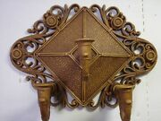 Vtg Homco Dart Wall Sconce 3 Arm Faux Wicker Floral Candle Holder Brown Diamond