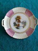 Antique Noritake Nippon Hand Painted Porcelain Cake Plate 1920and039s Old Mark
