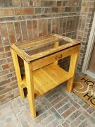 Rustic Vintage Handmade Farmhouse Style Window Entry Console Table
