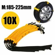 Car Tire Snow Chain Adjustable Anti-skid Safety Double Snap Winter Tpu Steel