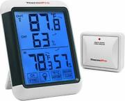 Thermopro Digital Wireless Indoor Outdoor Hygrometer Thermometer Humidity Meter