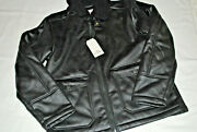 Ben Sherman Mens Jacket Medium Faux Leather Sherpa Lined Nwt