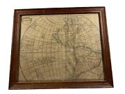 Antique Septentrional America 18th Century Map Of North And South America